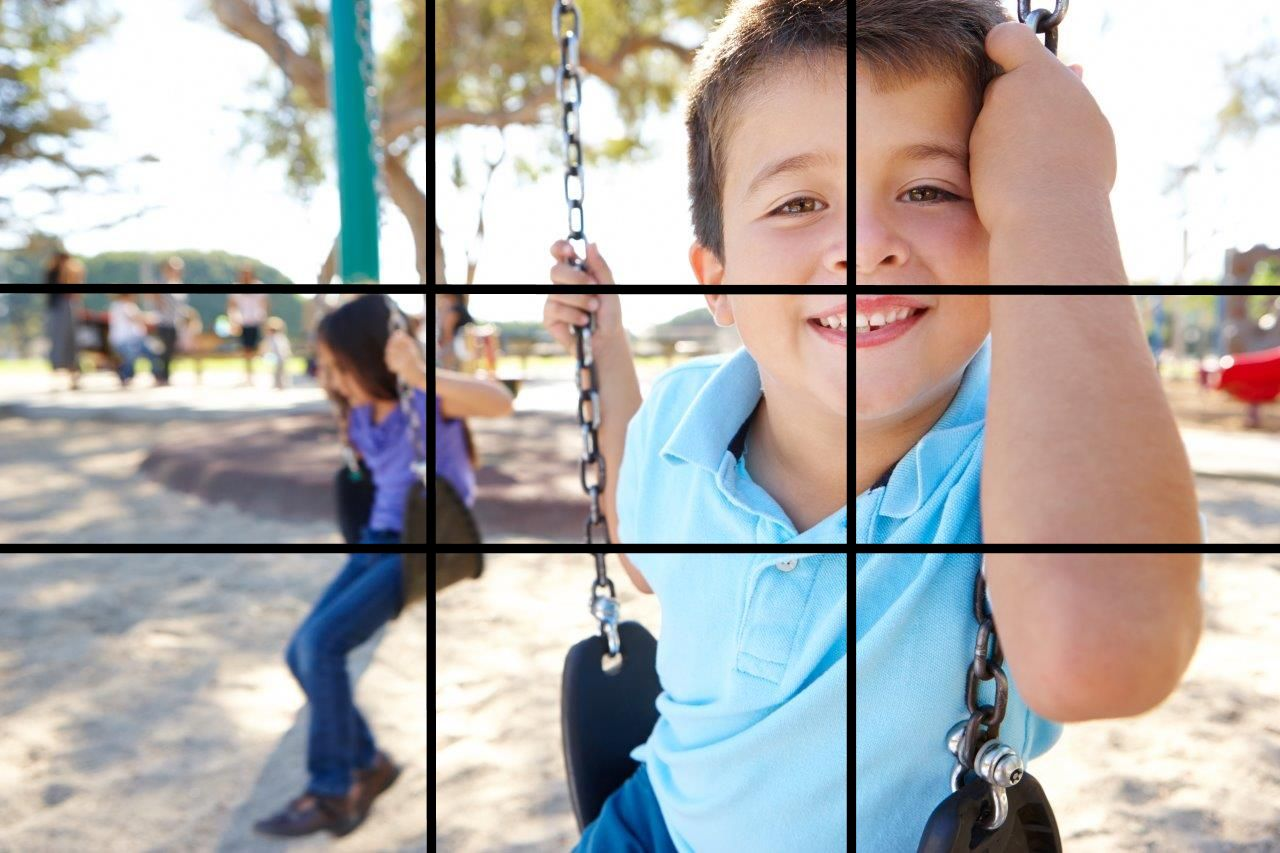 Example of the Rule of Thirds in photography