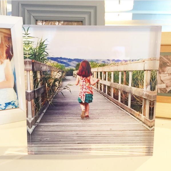 Decorating for winter with summer photos and a Posterjack Acrylic Block