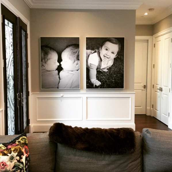 Beautiful and large Posterjack photo art prints displayed in a home