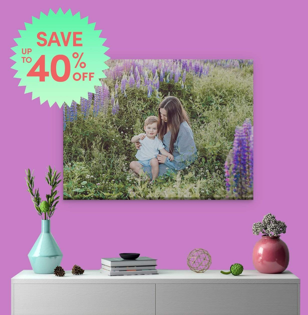 "YOUR IMAGE OR PHOTO PRINT ON CANVAS WITH FRAME 12/"" X 24/"" GALLERY WRAP"