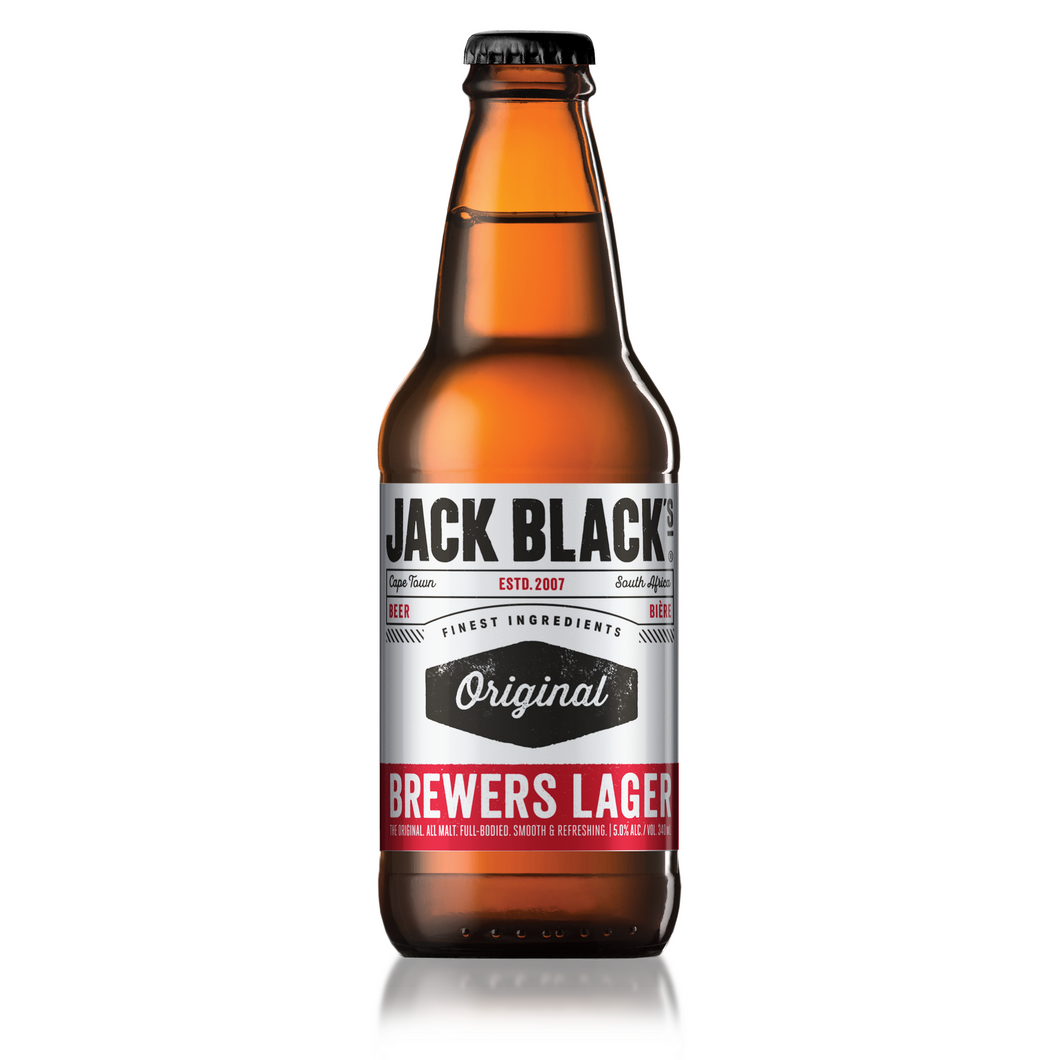 Jack Black Brewers Lager NRB 340ml - 6 Pack - MotherCity Liquor Store