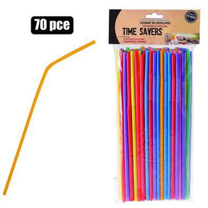 Plastic straws 70pc_ Colourful_Buy Online_Mothercity Liquor_National Delivery