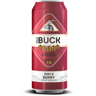 Old Buck Gin & Berry 440ml - MotherCity Liquor Store