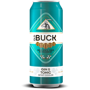 Old Buck Gin & Tonic 440ml - MotherCity Liquor Store