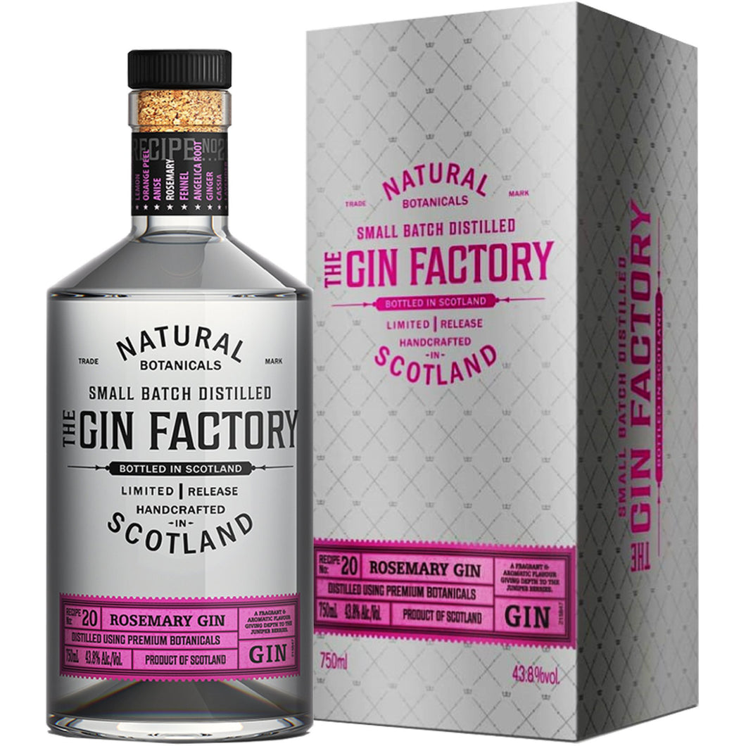 The Gin Factory - Rosemary Infused Gin 750ml - MotherCity Liquor Store