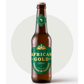 African Gold Premium Beer 340ml - 4 Pack - MotherCity Liquor Store