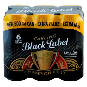 Black Label 500ml Can - MotherCity Liquor Store