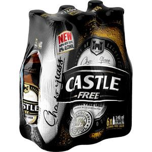 Castle Free 340ml - MotherCity Liquor Store