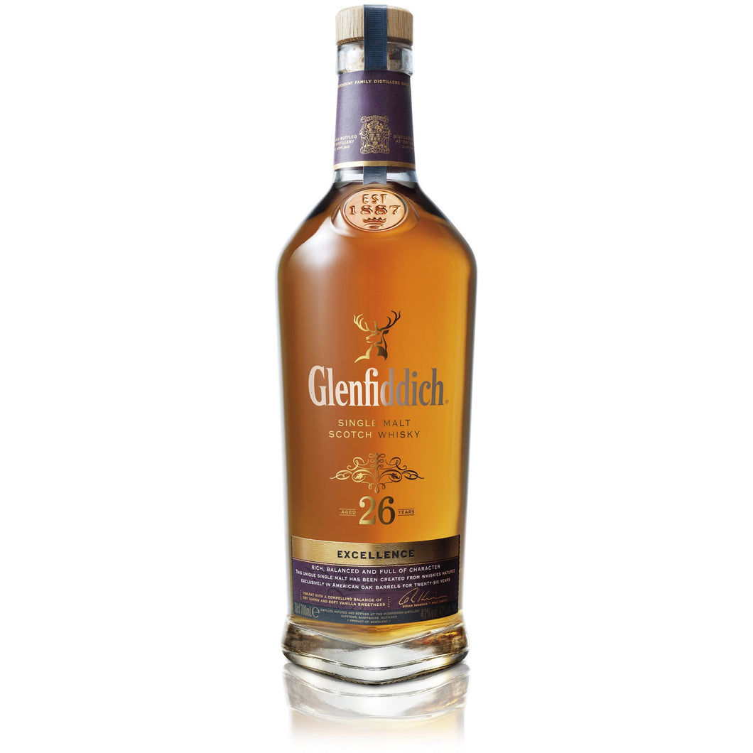 Glenfiddich 26YO Excellence 750ml - MotherCity Liquor Store