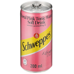 Schweppes Floral Pink Tonic Water 200ml Can - 6 Pack - MotherCity Liquor Store