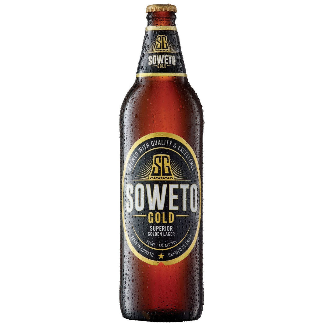 Soweto Gold Lager 750ml - 12(Case) - MotherCity Liquor Store