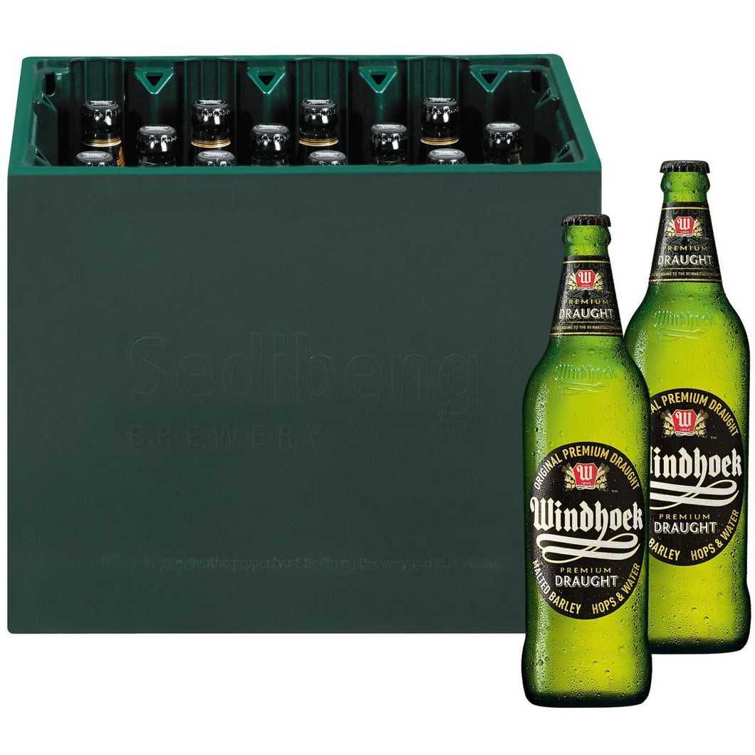 Windhoek Draught 660ml (12 x 660ml) - MotherCity Liquor Store