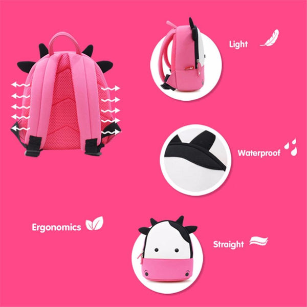 Attractive ... 3D Kids  COW Backpack   Flying Toddler ... Design Inspirations