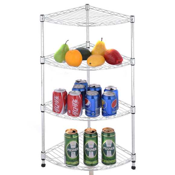 3 Tier Corner Wire Shelf Storage Rack