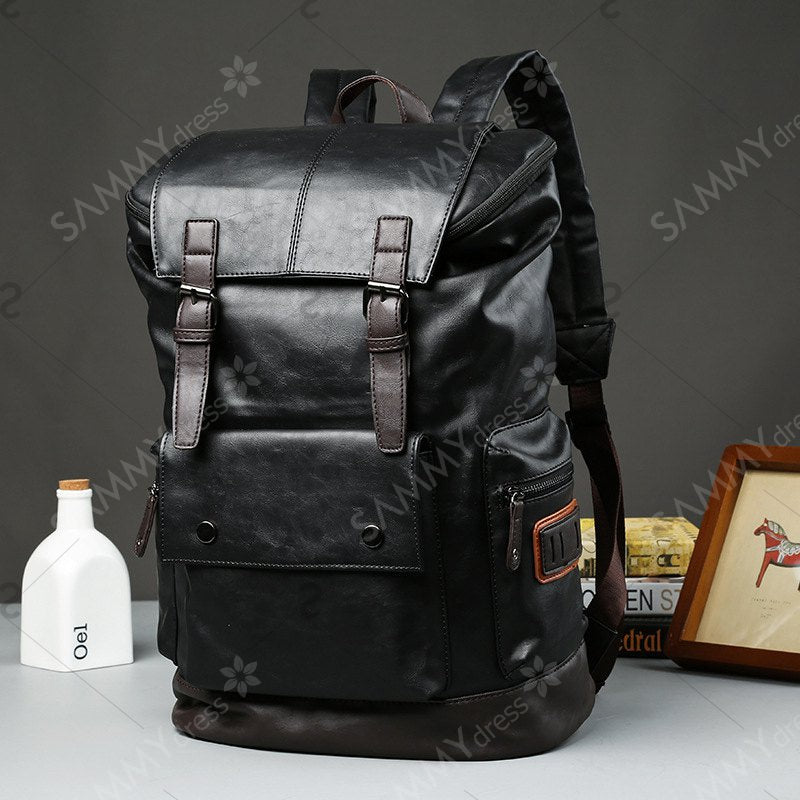 High Quality Men's Backpack Leather Rucksack