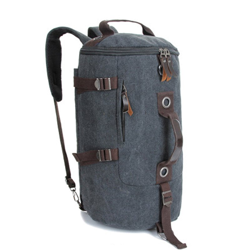 Multifunctional Canvas Shoulder Bag Portable Travel Bag Casual Backpack