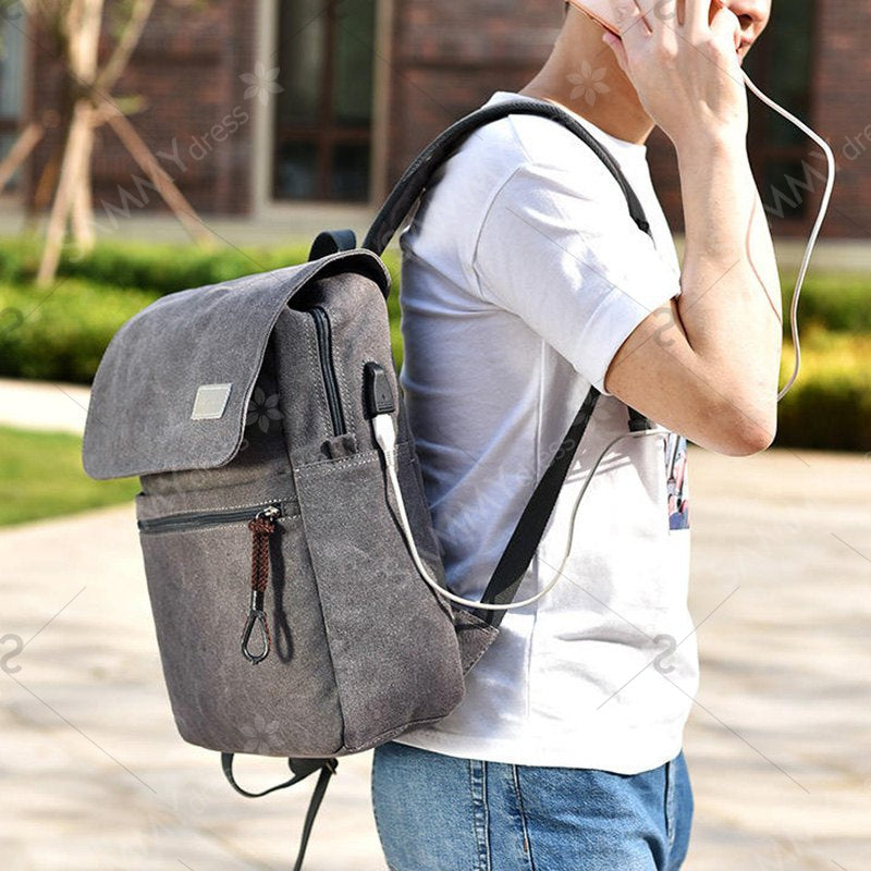 Double Pocket Zippers Backpack