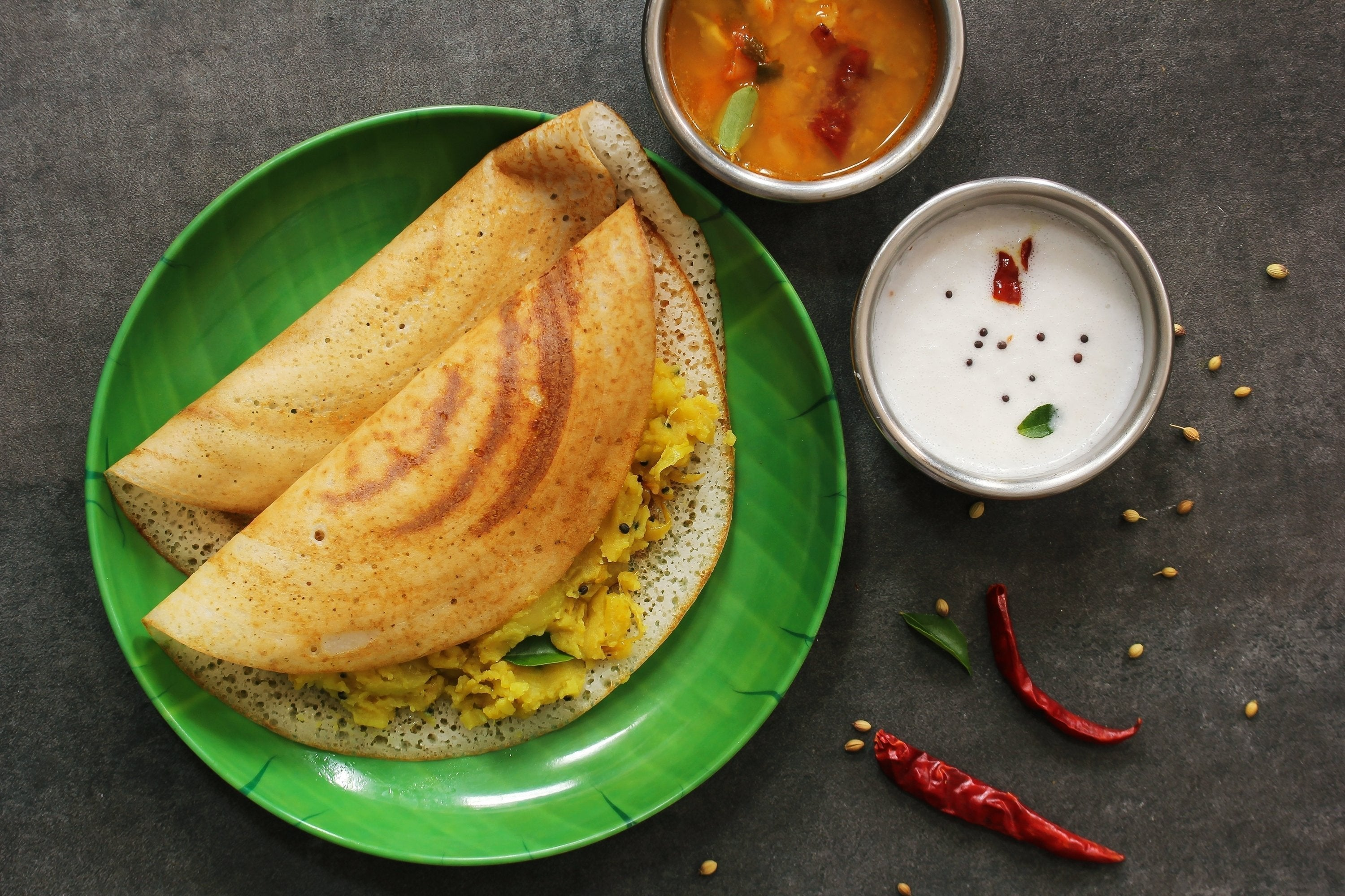 Masala Dosa with Sambar