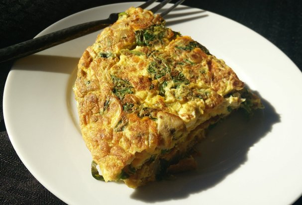 Spiced Omelette with Indian Fenugreek