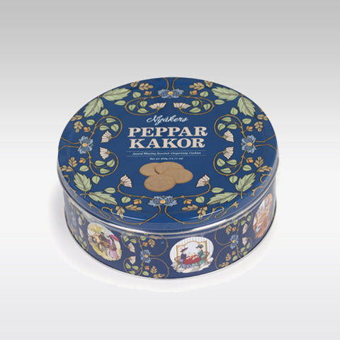 Nyakers Swedish Ginger Snaps in Blue Tin, 400g