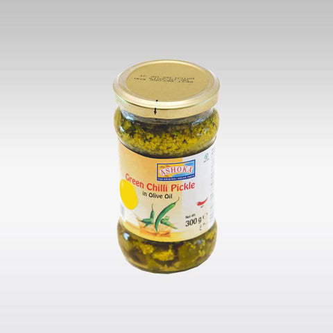 Ashoka Green Chilli Pickle in Olive Oil 300g