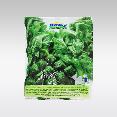 Begro Chopped Spinach in Portions 1 Kg