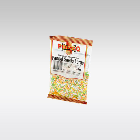 Fudco Sugar Coated Fennel Seeds 100g - redrickshaw.com