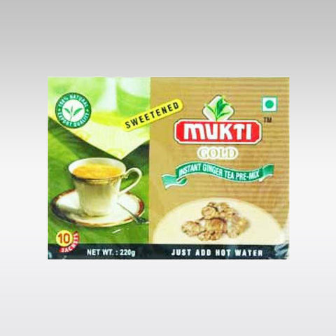 Mukti Instant Sweetened Ginger Tea Mix (10 Sachets)