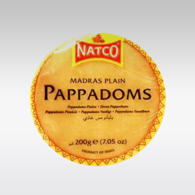 Natco Plain Mini Madras Poppadoms 200g