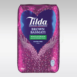 Tilda Wholegrain Basmati Rice (Brown, Gluten-Free) 500g