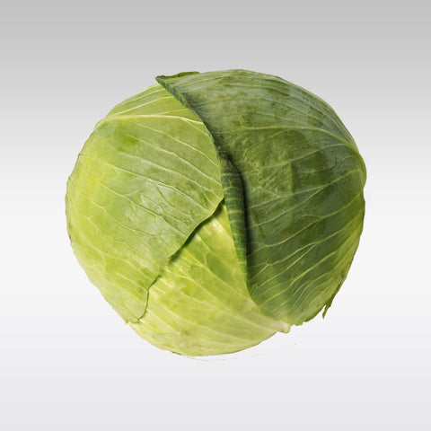 Fresh Flat Green Cabbage 600g