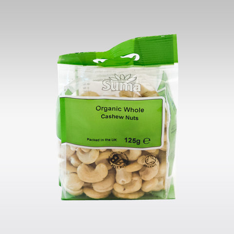 Suma Organic Cashews Whole 125g - redrickshaw.com