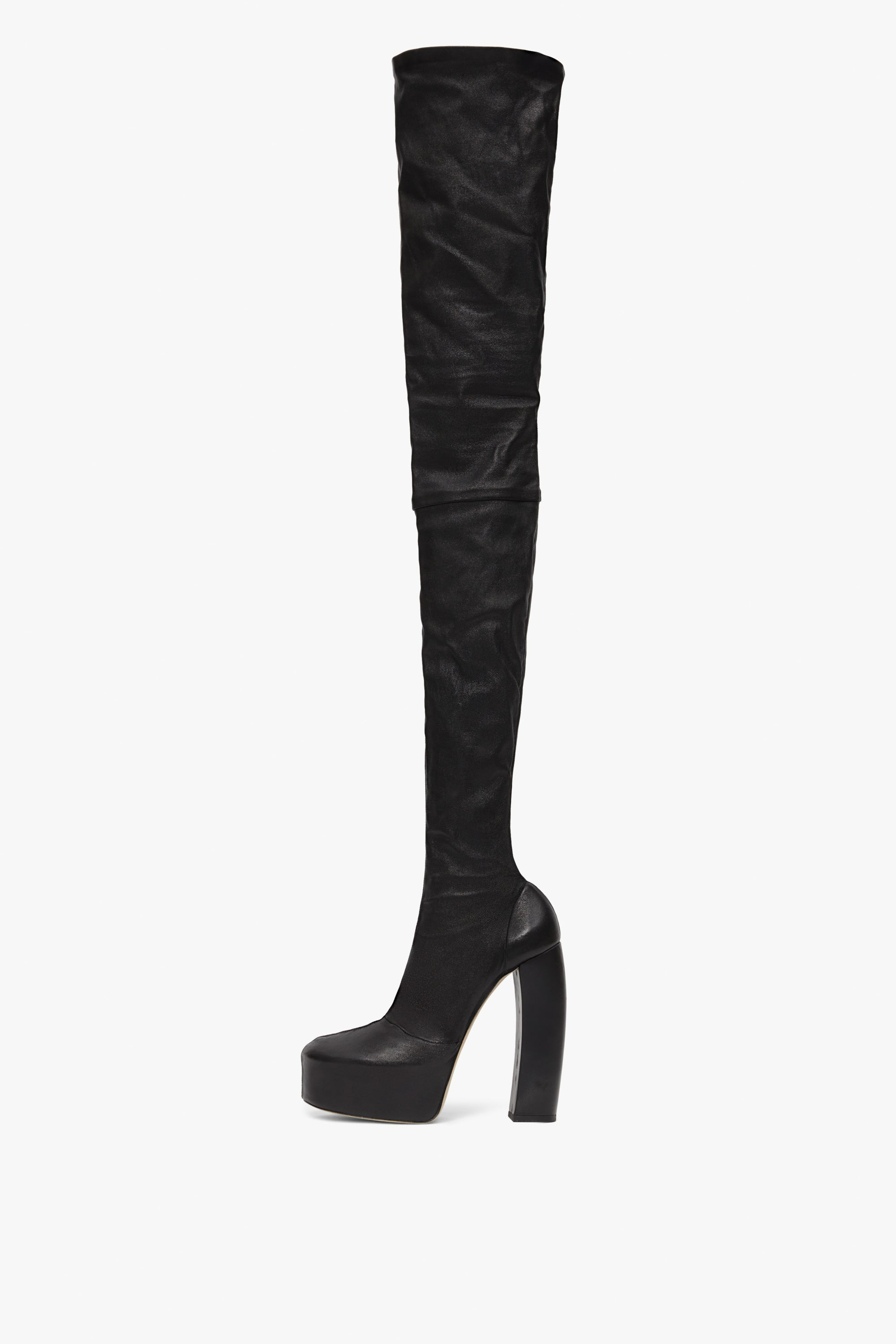 Isabella 155mm Over The Knee Stretch Boot in Black