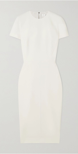 T-Shirt Fitted Dress in Cream White