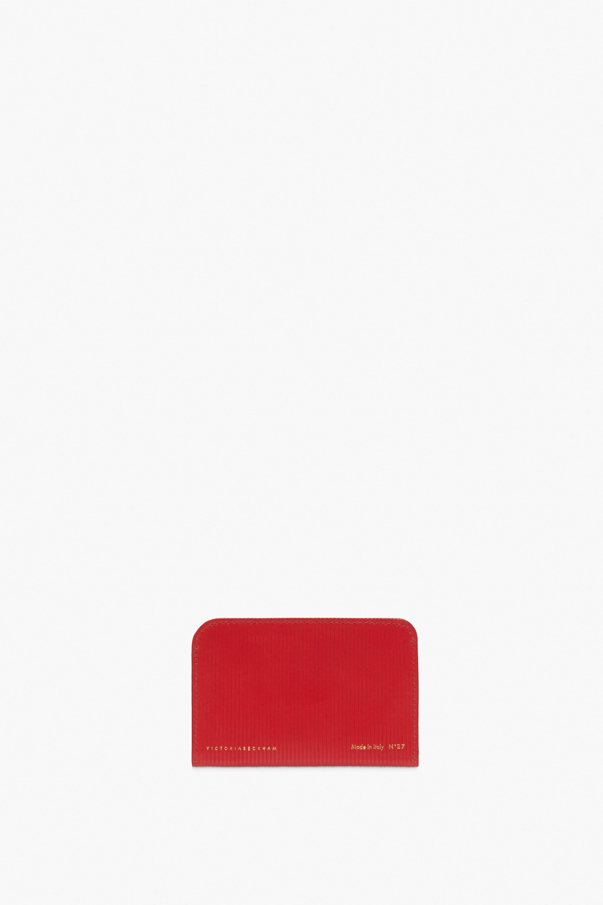 Card Holder In Bright Red