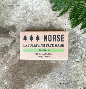 NORSE MENS EXFOLIATING FACE WASH BAR- WOODSMAN