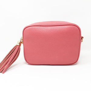 LEATHER BOX BAG WITH REMOVABLE STRAP - CANDY PINK