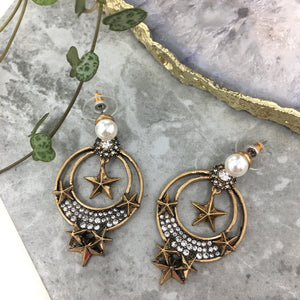 STAR & PEARL EARRINGS