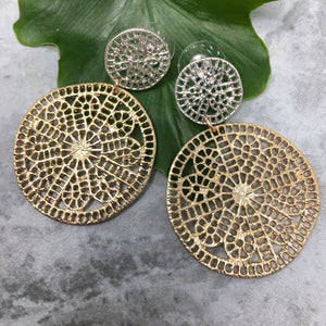 GOLD & SILVER FILIGREE EARRINGS