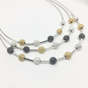 MIXED METAL LAYERED NECKLACE