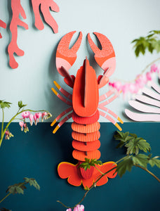 LOBSTER 3D CARDBOARD WALL HANGING