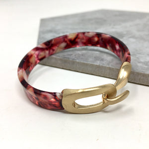 RESIN BANGLE RED AND PINK