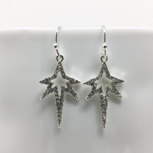 STRETCHED STAR DROP EARRINGS