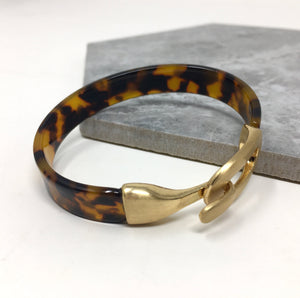 RESIN BANGLE TORTOISE SHELL