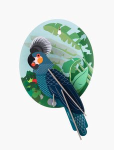GREY PARROT 3D WALL DECOR - MED