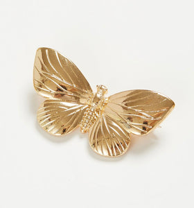 GOLD PLATED BUTTERFLY BROACH