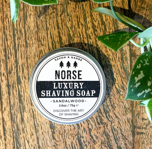 NORSE LUXURY SHAVING SOAP - SANDALWOOD