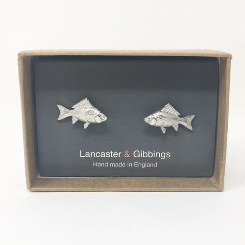 PEWTER FISH CUFFLINKS