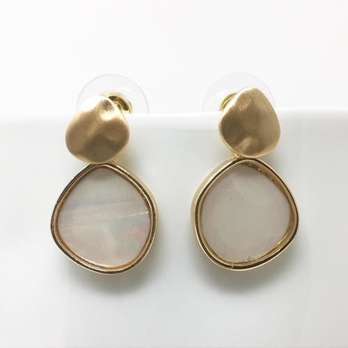 FAUX PEARL EARRINGS - GOLD