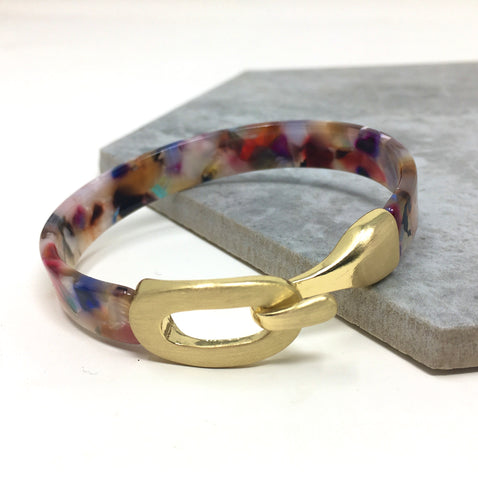 RESIN BANGLE MULTICOLOUR